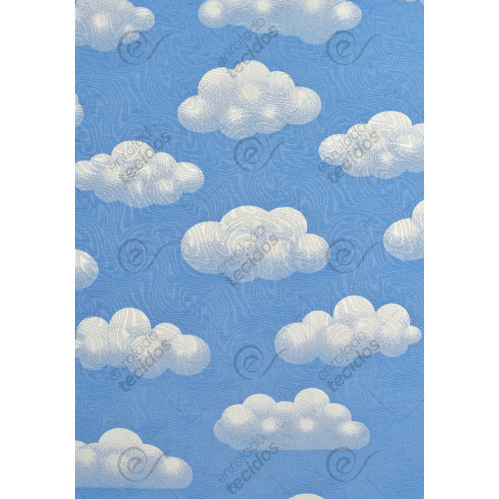 Vestido nuvem azul claro