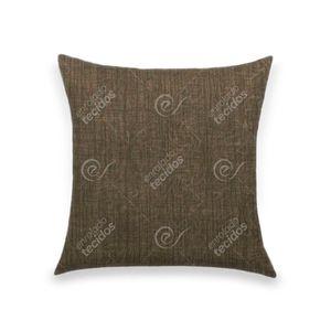 almofada-tecido-jacquard-estampado-liso-marrom-escuro