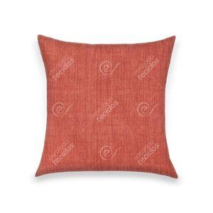 almofada-tecido-jacquard-estampado-liso-vermelho-alaranjado
