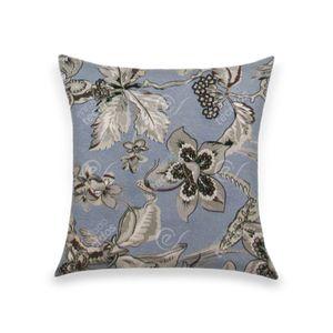 almofada-tecido-jacquard-estampado-floral-azul-e-cinza