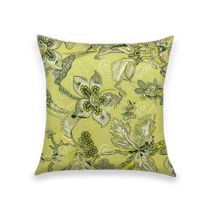 almofada-tecido-jacquard-estampado-floral-amarelo-e-cinza