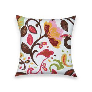 almofada-tecido-jacquard-estampado-laranja-e-verde-fundo-branco