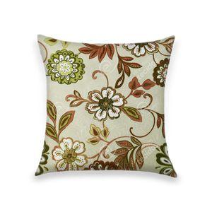 almofada-tecido-jacquard-estampado-verde-e-vermelho-fundo-branco