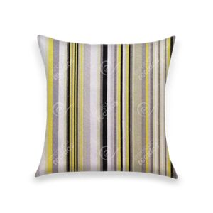 almofada-tecido-jacquard-listrado-amarelo-preto-cinza