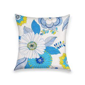 almofada-tecido-jacquard-estampado-floral-azul-verde