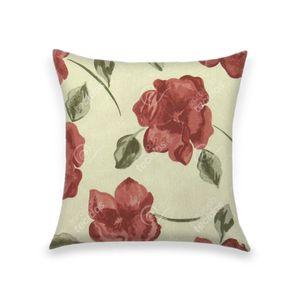almofada-tecido-jacquard-estampado-floral-terracota
