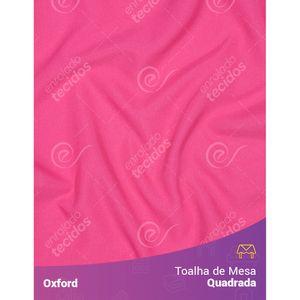 Toalha-de-Mesa-Quadrada-em-Oxford-Rosa-Pink-Chiclete