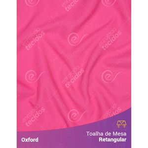 Toalha-de-Mesa-Retangular-em-Oxford-Rosa-Pink-Chiclete