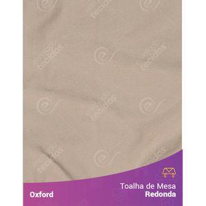 Toalha-de-Mesa-Redonda-para-Buffet-em-Oxford-Bege-Areia