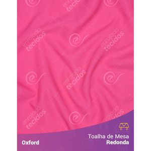 Toalha-de-Mesa-Redonda-para-Buffet-em-Oxford-Rosa-Pink-Chiclete