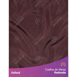 Toalha-de-Mesa-Redonda-para-Buffet-em-Oxford-Marrom-Chocolate