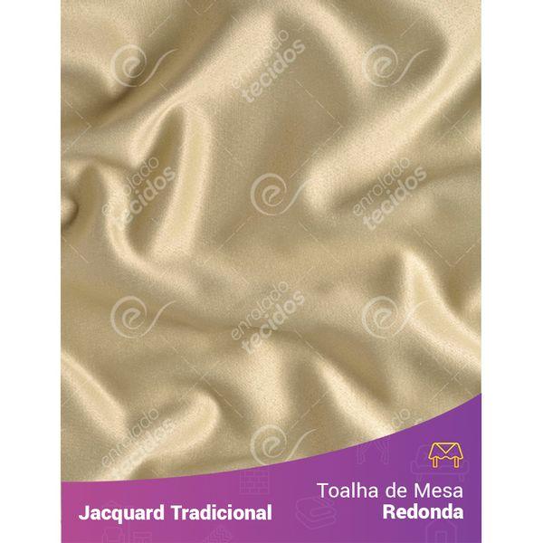 Toalha-de-Mesa-Redonda-em-Tecido-Jacquard-Bege-Liso-Tradicional
