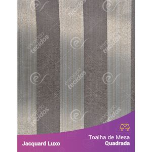 Toalha-de-Mesa-Quadrada-em-Tecido-Jacquard-Cinza-Listrado-Luxo