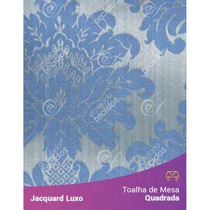 Toalha-de-Mesa-Quadrada-em-Tecido-Jacquard-Azul-Medalhao-Luxo