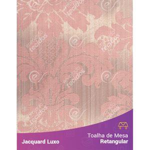 Toalha-de-Mesa-Retangular-em-Tecido-Jacquard-Rosa-Medalhao-Luxo