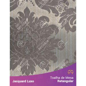 Toalha-de-Mesa-Retangular-em-Tecido-Jacquard-Cinza-Medalhao-Luxo