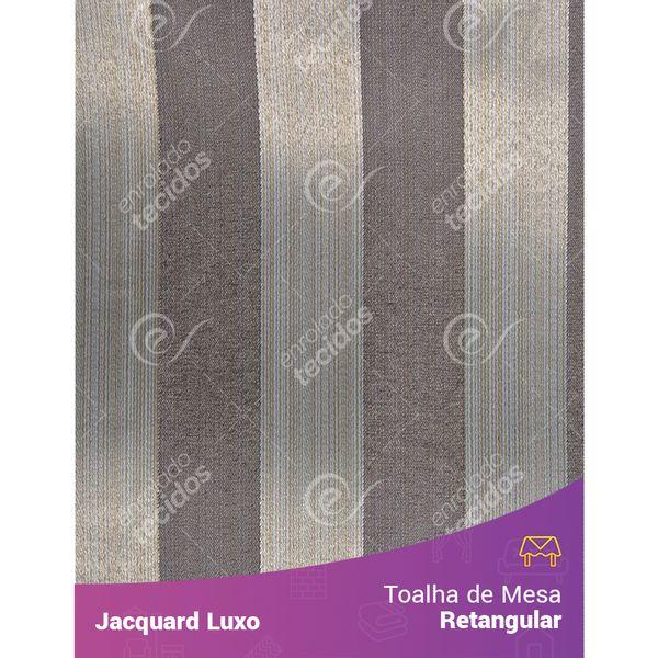Toalha-de-Mesa-Retangular-em-Tecido-Jacquard-Cinza-Listrado-Luxo