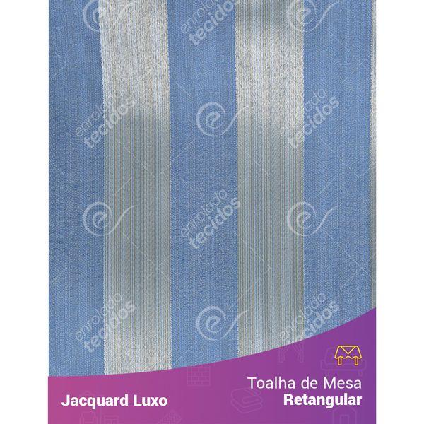 Toalha-de-Mesa-Retangular-em-Tecido-Jacquard-Azul-Listrado-Luxo