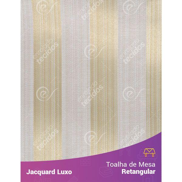 Toalha-de-Mesa-Retangular-em-Tecido-Jacquard-Bege-Claro-Listrado-Luxo