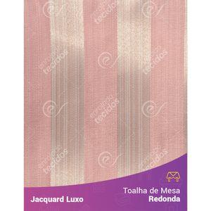 Toalha-de-Mesa-Redonda-em-Tecido-Jacquard-Rosa-Listrado-Luxo