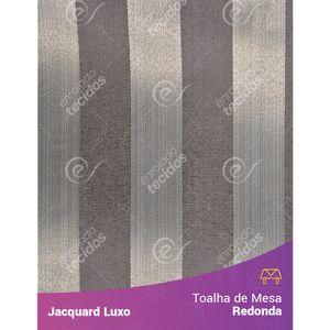 Toalha-de-Mesa-Redonda-em-Tecido-Jacquard-Cinza-Listrado-Luxo