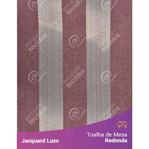 Toalha-de-Mesa-Redonda-em-Tecido-Jacquard-Vinho-Marsala-Listrado-Luxo