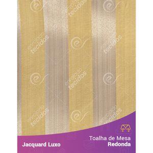 Toalha-de-Mesa-Redonda-em-Tecido-Jacquard-Amarelo-Listrado-Luxo