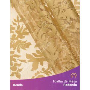 Toalha-de-Mesa-Redonda-em-Tecido-Renda-Medalhao-Dourado