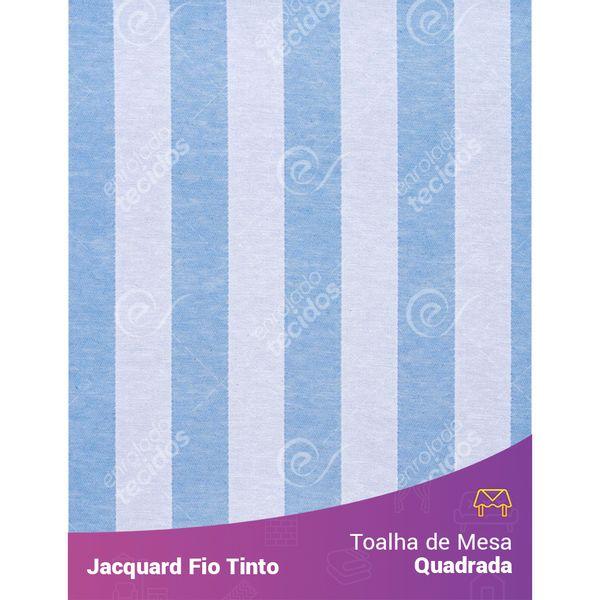 Toalha-Quadrada-em-Tecido-Jacquard-Azul-Bebe-e-Branco-Listrado-Fio-Tinto