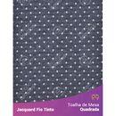 Toalha-Quadrada-em-Tecido-Jacquard-Preto-e-Branco-Poa-Fio-Tinto