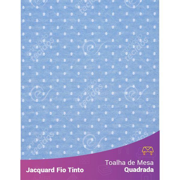 Toalha-Quadrada-em-Tecido-Jacquard-Azul-Bebe-e-Branco-Poa-Fio-Tinto
