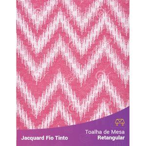 Toalha-Retangular-em-Tecido-Jacquard-Vermelho-e-Branco-Chevron-Fio-Tinto