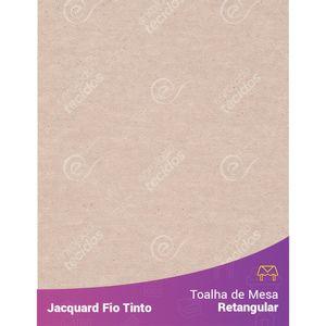 Toalha-Retangular-em-Tecido-Jacquard-Bege-Liso-Fio-Tinto