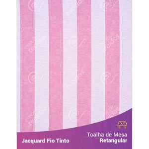 Toalha-Retangular-em-Tecido-Jacquard-Rosa-Bebe-e-Branco-Listrado-Fio-Tinto
