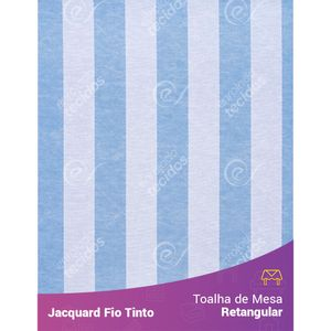 Toalha-Retangular-em-Tecido-Jacquard-Azul-Bebe-e-Branco-Listrado-Fio-Tinto