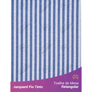 Toalha-Retangular-em-Tecido-Jacquard-Azul-Royal-e-Branco-Listrado-Estreito-Fio-Tinto
