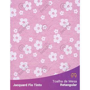 Toalha-Retangular-em-Tecido-Jacquard-Florzinha-Baby-Rosa-Bebe-e-Branco-Fio-Tinto