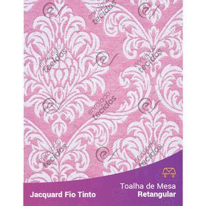 Toalha-Retangular-em-Tecido-Jacquard-Rosa-Bebe-e-Branco-Medalhao-Fio-Tinto