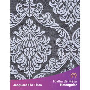 Toalha-Retangular-em-Tecido-Jacquard-Preto-e-Branco-Medalhao-Fio-Tinto