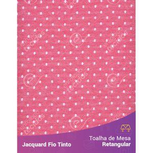 Toalha-Retangular-em-Tecido-Jacquard-Vermelho-e-Branco-Poa-Fio-Tinto