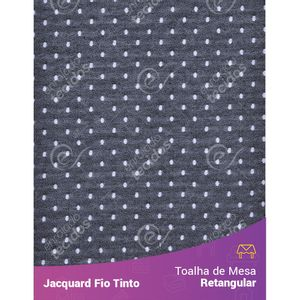 Toalha-Retangular-em-Tecido-Jacquard-Preto-e-Branco-Poa-Fio-Tinto