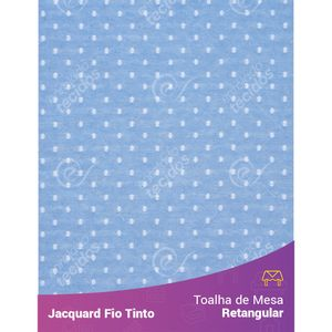 Toalha-Retangular-em-Tecido-Jacquard-Azul-Bebe-e-Branco-Poa-Fio-Tinto