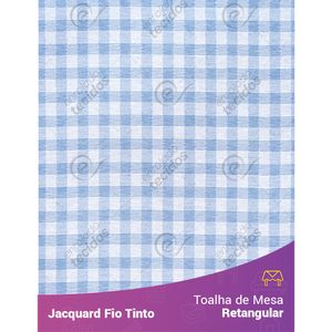 Toalha-Retangular-em-Tecido-Jacquard-Azul-Bebe-e-Branco-Xadrez-Fio-Tinto