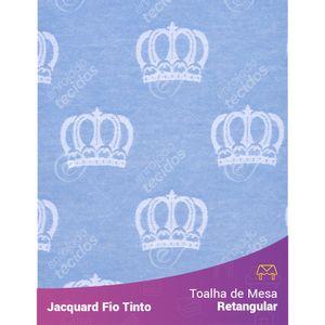 Toalha-Retangular-em-Tecido-Jacquard-Azul-Bebe-e-Branco-Coroa-Fio-Tinto