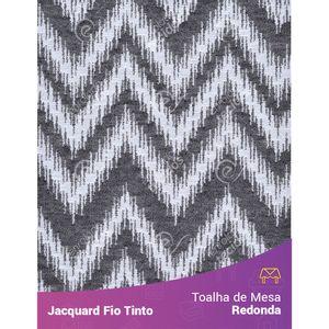 Toalha-Redonda-em-Tecido-Jacquard-Preto-e-Branco-Chevron-Fio-Tinto