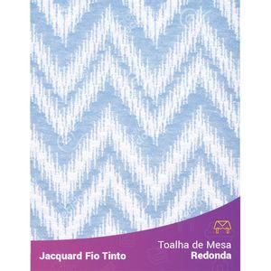 Toalha-Redonda-em-Tecido-Jacquard-Azul-Bebe-e-Branco-Chevron-Fio-Tinto