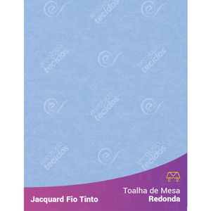 Toalha-Redonda-em-Tecido-Jacquard-Azul-Bebe-Liso-Fio-Tinto