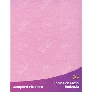 Toalha-Redonda-em-Tecido-Jacquard-Rosa-Bebe-Liso-Fio-Tinto