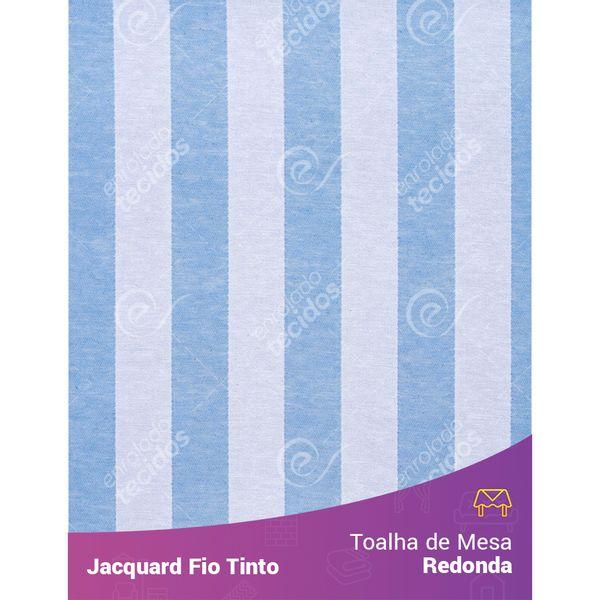 Toalha-Redonda-em-Tecido-Jacquard-Azul-Bebe-e-Branco-Listrado-Fio-Tinto