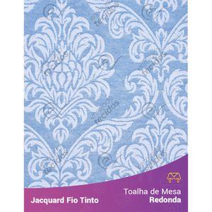 Toalha-Redonda-em-Tecido-Jacquard-Azul-Bebe-e-Branco-Medalhao-Fio-Tinto